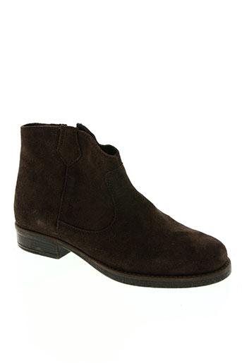 unisa chaussures garçon de couleur marron