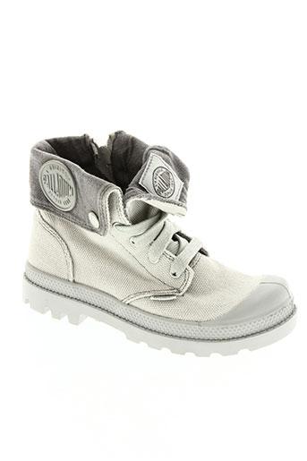 palladium chaussures enfant de couleur gris