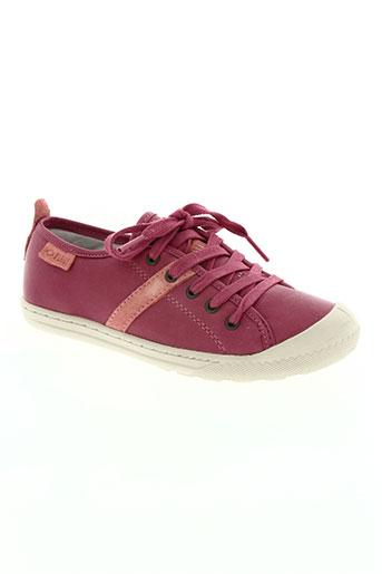 palladium chaussures fille de couleur rose
