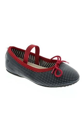 petit bateau chaussures fille de couleur bleu