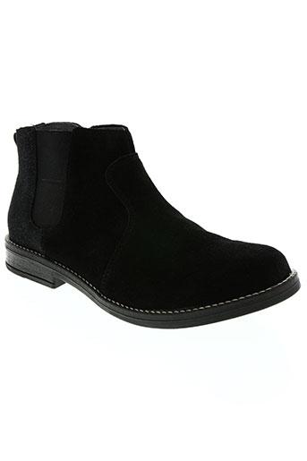 two side chaussures fille de couleur noir
