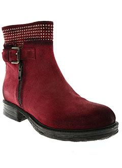 Bottines/Boots rouge COCO ET ABRICOT pour femme