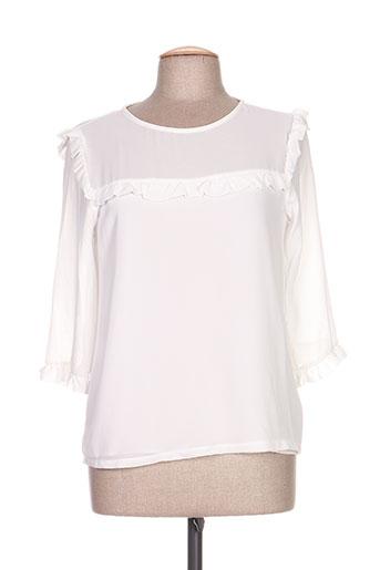 clarence et jude chemises femme de couleur blanc