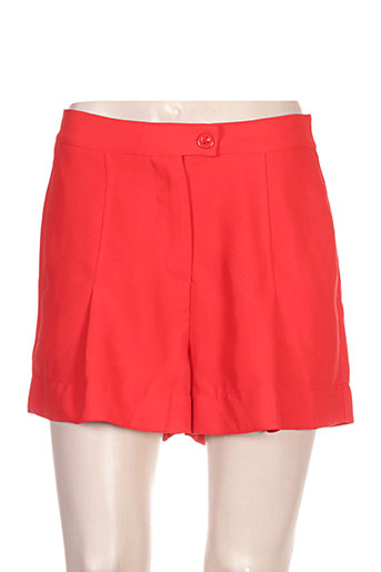 clarence et jude shorts / bermudas femme de couleur rouge