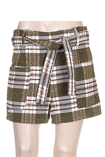 clarence et jude shorts / bermudas femme de couleur vert