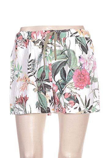 clarence et jude shorts / bermudas femme de couleur blanc