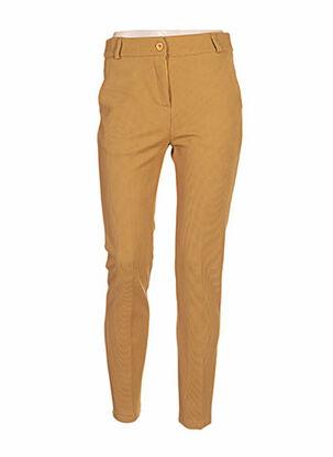 Pantalon casual jaune CLARENCE ET JUDE pour femme