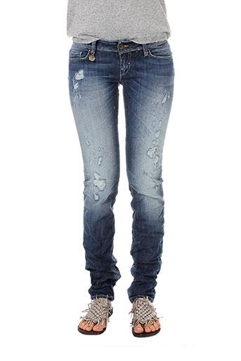 salsa jeans femme de couleur bleu