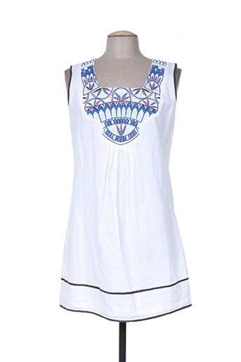 a.c.b by j.e creation robes femme de couleur blanc