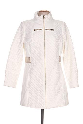 fuego woman manteaux femme de couleur blanc