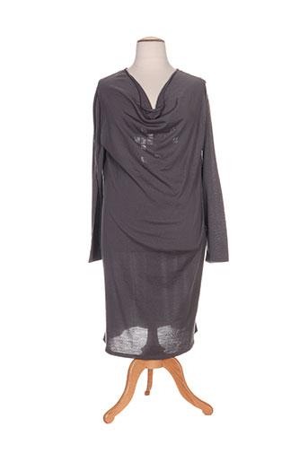 luisa viola robes femme de couleur gris