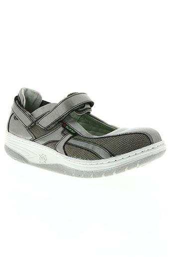 sano chaussures femme de couleur gris
