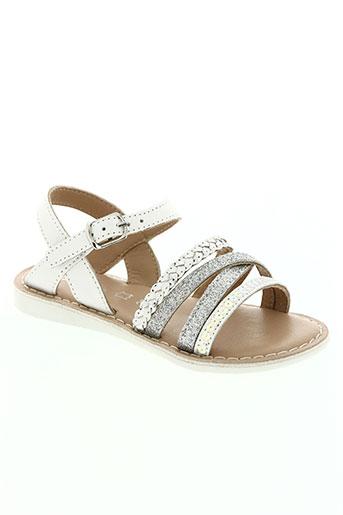 chetto chaussures fille de couleur blanc