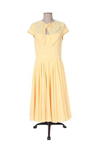 Robe mi-longue jaune ISABEL GARCIA pour femme