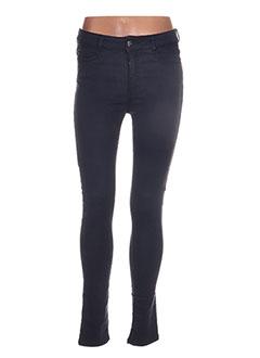 Pantalon casual bleu HOTEL PARTICULIER pour femme