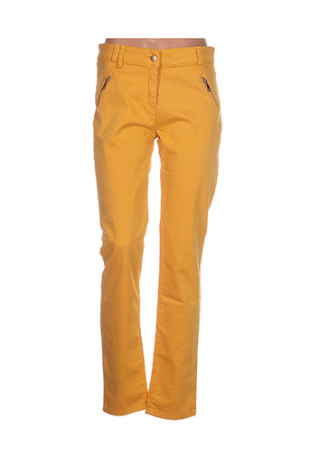 ananke pantalons femme de couleur jaune