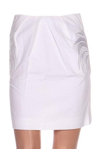 Jupe courte blanc CASTELBAJAC pour femme
