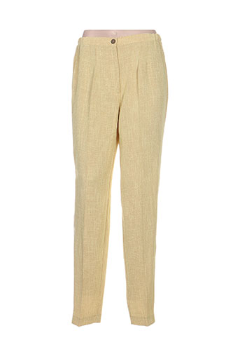 guitard pantalons femme de couleur jaune