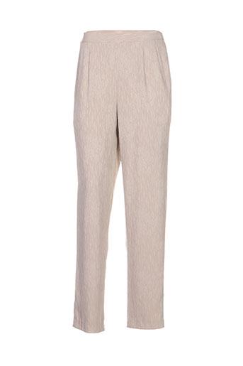 Pantalon casual beige INTUITION pour femme