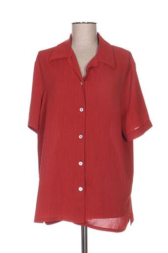 intuition chemises femme de couleur rouge