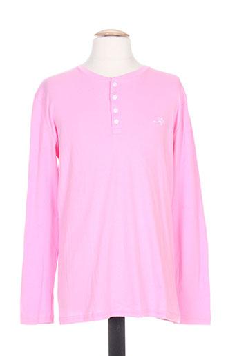 T-shirt manches courtes rose CORDOVAN pour homme