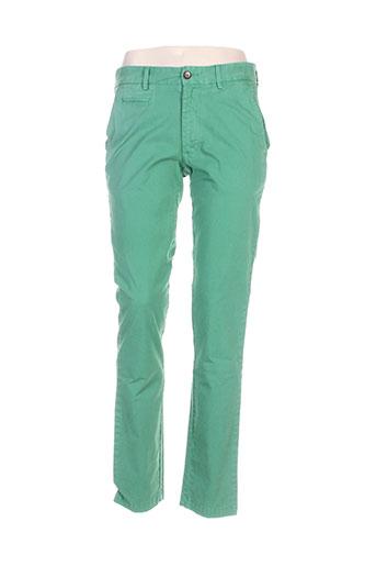 Pantalon casual vert ANGELO LITRICO pour femme