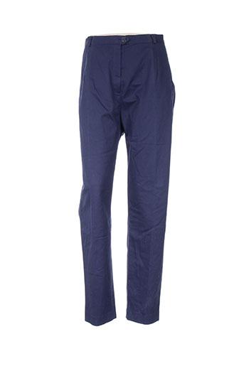bleu de sym pantalons femme de couleur bleu