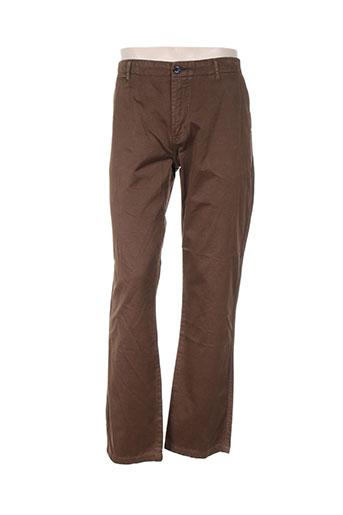 adam pantalons homme de couleur marron