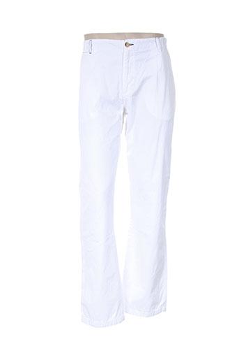 adam pantalons homme de couleur blanc