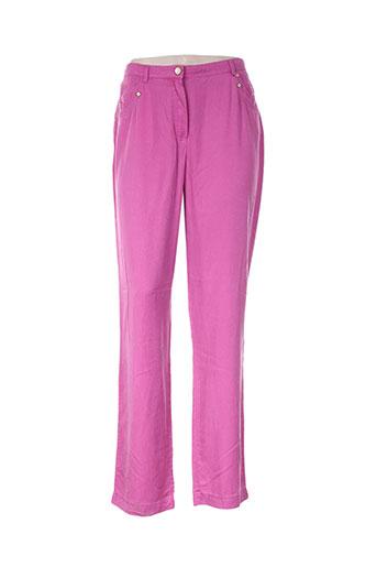 felino pantalons femme de couleur rose