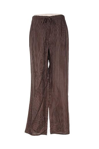 Pantalon casual marron ADOLFO DOMINGUEZ pour femme
