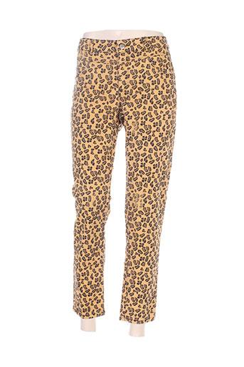 oui pantalons femme de couleur orange