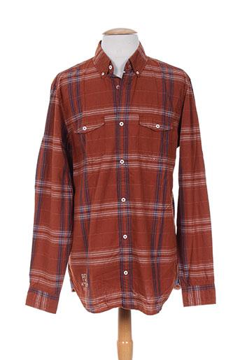 s.oliver chemises homme de couleur marron