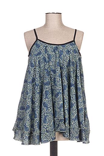 aller simplement chemises femme de couleur bleu