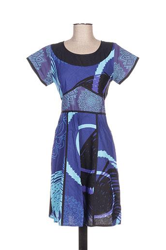 Robe mi-longue bleu ALLER SIMPLEMENT pour femme