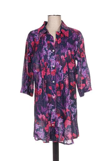 Tunique manches longues violet ALLER SIMPLEMENT pour femme