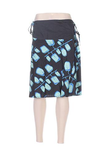 Jupe mi-longue bleu ALLER SIMPLEMENT pour femme