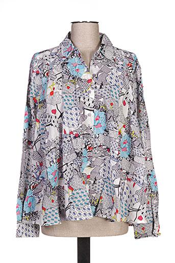 kaliyog chemises femme de couleur gris