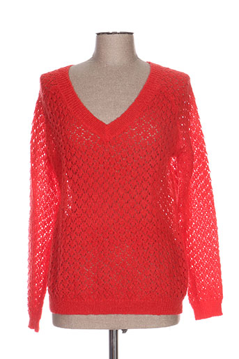majolica pulls femme de couleur rouge