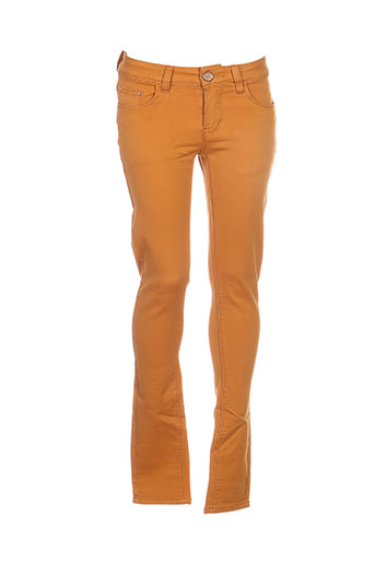 r.display pantalons femme de couleur jaune