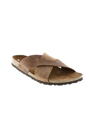 raquel perez chaussures homme de couleur marron