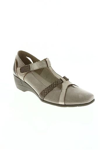 avd shoes chaussures femme de couleur beige