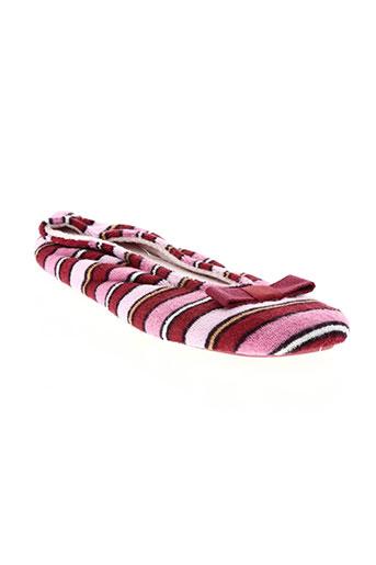 isotoner chaussures femme de couleur rose