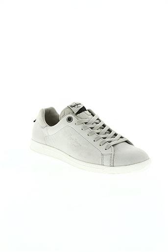 pepe jeans chaussures homme de couleur gris