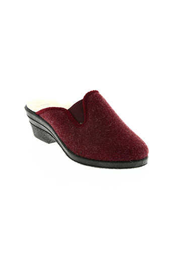 made in france chaussures femme de couleur rouge