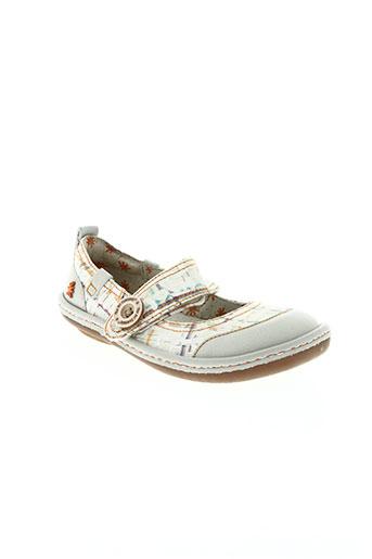 art chaussures fille de couleur blanc