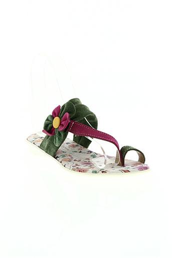 telles qu'elles chaussures fille de couleur vert