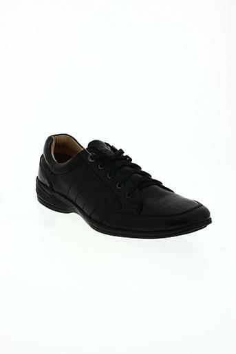 stressless chaussures homme de couleur noir