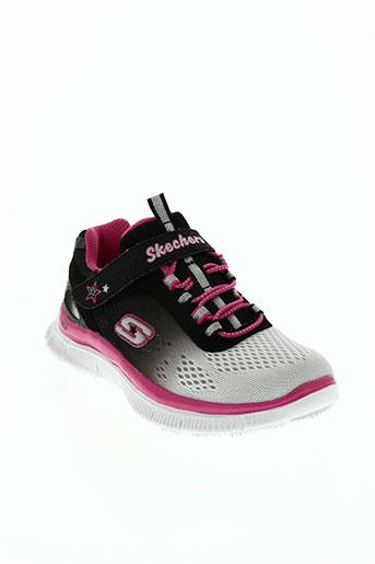 skechers chaussures fille de couleur rose