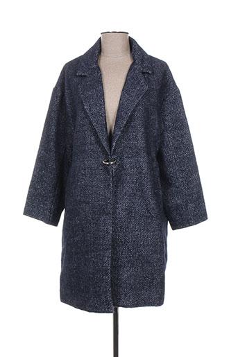 daphnea manteaux femme de couleur bleu